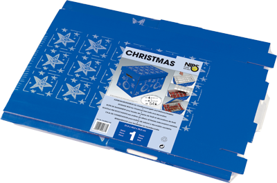 CHRISTMAS-BOX 1er Packung in Folie mit Packungseinleger inkl. EAN