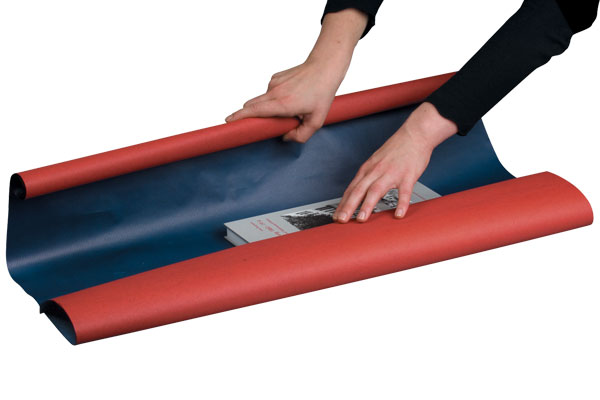 NIPS PACKPAPIER-ROLLE BI-COLOUR Beidseitig Bedruckt Rot-blau