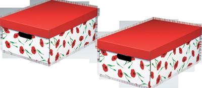 AMAPOLA Aufbewahrungsboxen mit Deckel