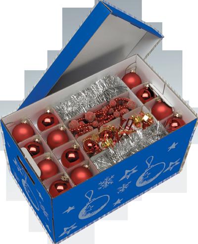 NIPS CHRISTMAS Aufbewahrungsbox Für Christbaumkugeln Und Weihnachtsdeko