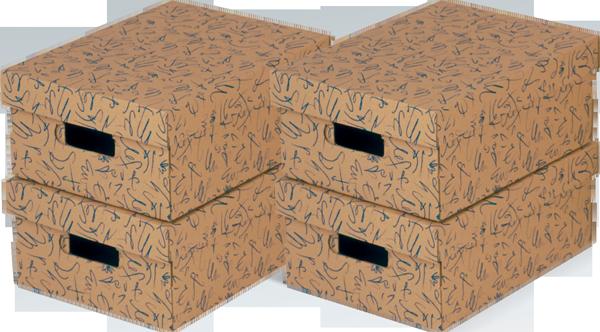 ECO line GRAFO Blau Aufbewahrungsboxen mit Deckel