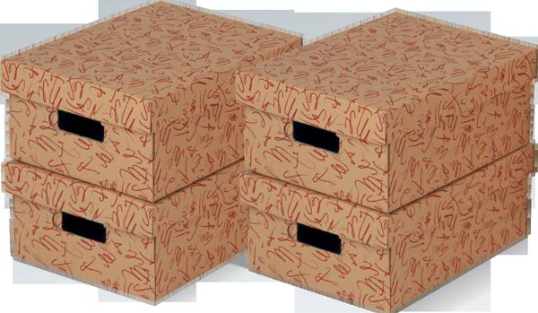ECO line GRAFO Rot Aufbewahrungsboxen mit Deckel