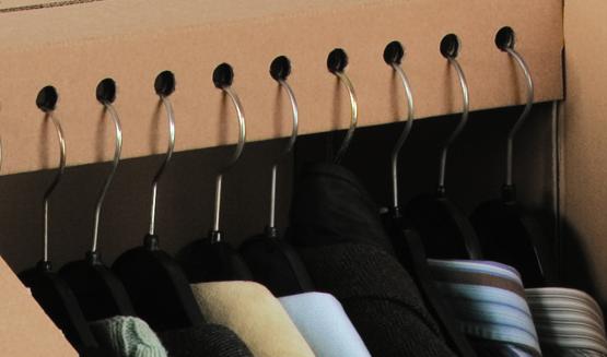 NIPS KLEIDER-BOX Detail Aufnahme für Kleiderbügeln