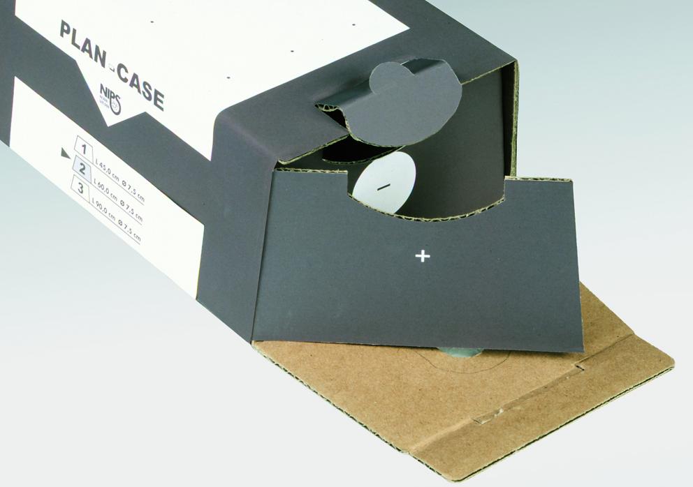 NIPS PLAN-CASE mit Inhaltskontrolle zur Verwendung als Archivierungsbox
