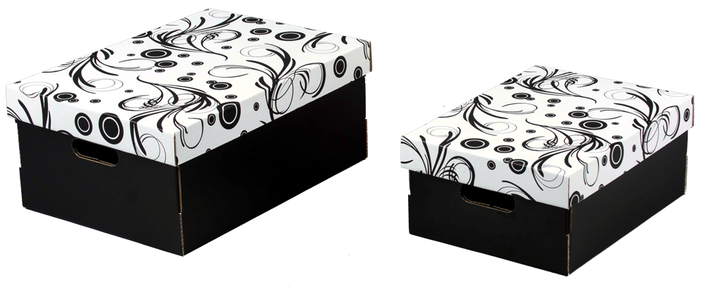 ECO line TENDRI Aufbewahrungsboxen mit Deckel Größe 1+2