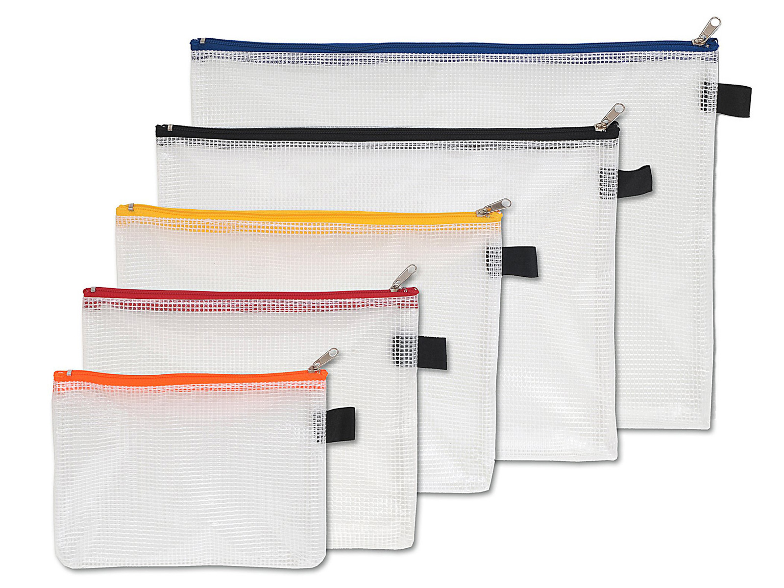 Utensilientasche aus gewebeverstärktem Kunststoff (PVC) mit Reißverschluss