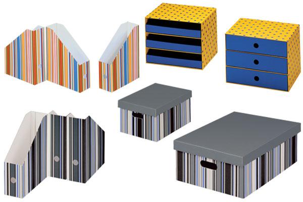 SPOT-SAMBA-OFFICE Ordnungssystem Bestehend Aus Schubladenboxen, Stehsammler Und Mehrzweckboxen