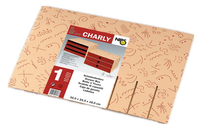ECO line CHARLY SCHUBLADENBOX A4 wird flachliegend geliefert