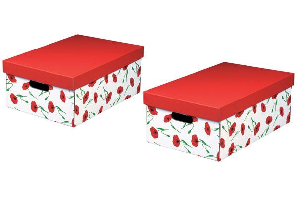 NIPS AMAPOLA Aufbewahrungsbox 2er Pck.
