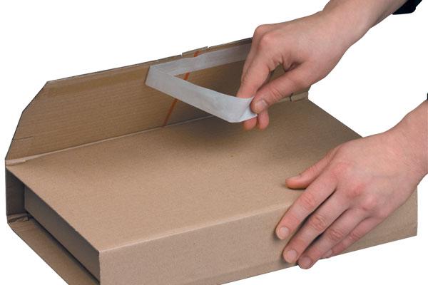 NIPS EASY-PACK höhenvariable Versandverpackung mit Selbstklebeverschluss für einfaches und sicheres Verschließen