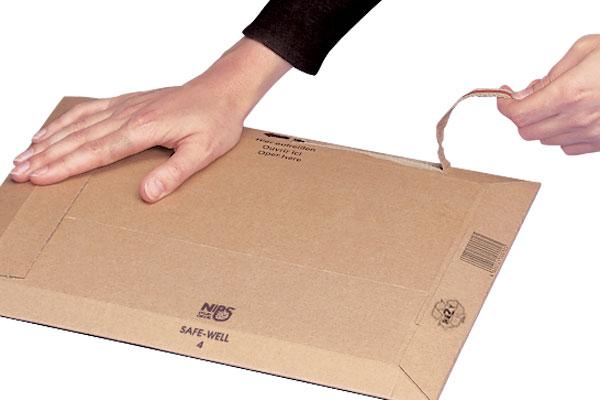 NIPS SAFE-WELL Versandtasche mit integriertem Aufreißband für leichtes Öffnen beim Empfänger
