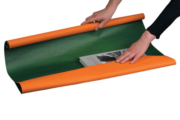 NIPS PACKPAPIER-ROLLE BI-COLOUR Beidseitig Bedruckt Orange-grün