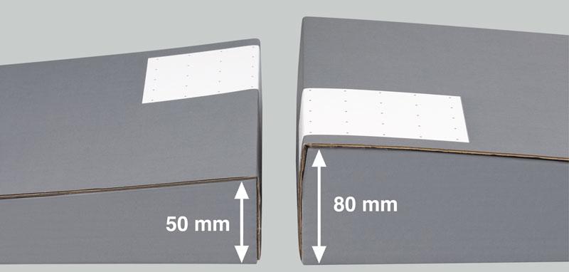 NIPS ORDNER-VERSANBOXEN geeignet für schmale und breite Standard-Ordner