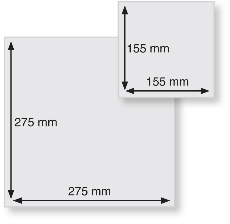 NIPS TELLERPAPIER 10 Bogen Im Format 15,5 X 15,5 Cm Und 20 Bogen Im Format 27,5 X 27,5 Cm