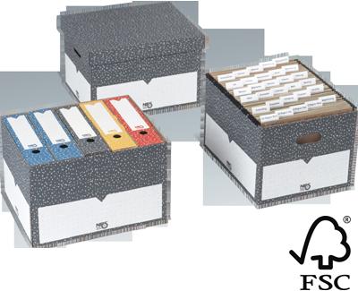 NIPS ARCHIV-BOX mit Deckel FSC zertifiziert