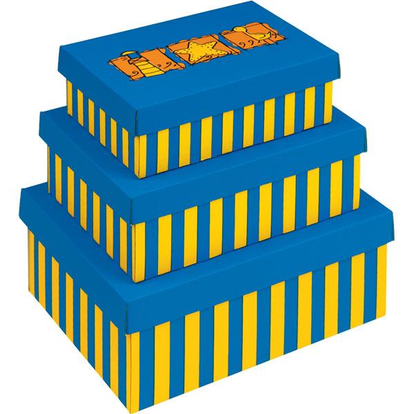 BEACH Aufbewahrungsboxen Mit Deckel, Gestapelt