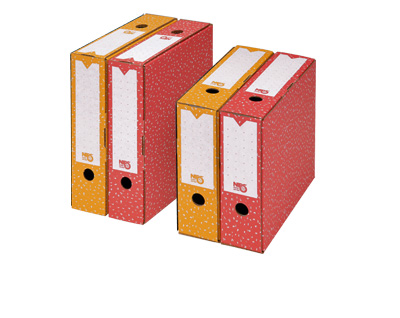 NIPS ARCHIV-ABLAGEBOX 80 mit Beschriftungsfelder und Grifflöcher